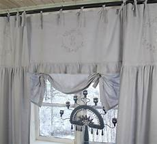 gardine landhausstil raff gardine crystal ny grau 180x90 cm raffgardinen