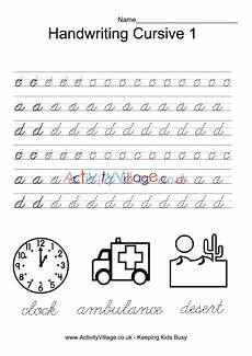alphabet handwriting worksheets uk 21603 handwriting practice cursive 1