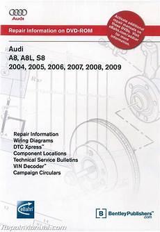 2005 audi a8 wiring diagram audi a8 a8l s8 2004 2009 repair manual dvd rom