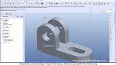 pro engineer pro e wildfire 5 0 basic beginner part modeling tutorial youtube
