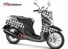 Modifikasi Fino Karbu by Modifikasi Striping Yamaha Fino Karbu Balinese Motoblast