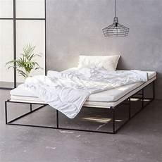 monoqi ion stahlbett schwarz minimalist furniture