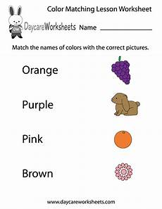 coloring worksheets for pre k 12865 free preschool color matching lesson worksheet