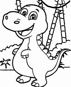 baby dinosaur forest coloring page wecoloringpage