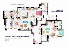 Sitcom Apartment Blueprints by 12 Floor Plans Of Apartment From Tv Shows Home