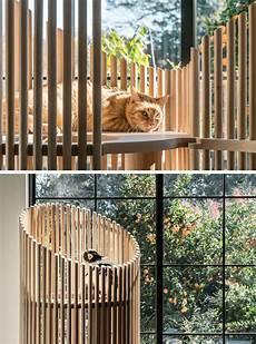 arbre a chat ikea 74664 this sculptural wood object is actually a modern cat tree