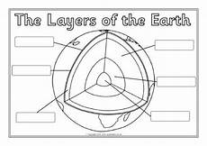 layers of the earth worksheet preview