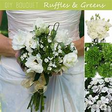 diy wedding bouquet ruffles and greens fiftyflowers