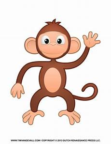 Monkey Clipart printable monkey clipart coloring pages crafts
