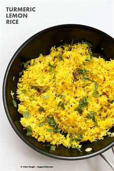 Turmeric Lemon Rice Recipe Vegan Richa