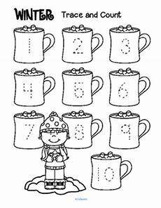 winter pre writing worksheets 20124 winter trace and count by kidsparkz teachers pay teachers
