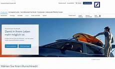 deutsche bank autokredit zinsen konditionen im