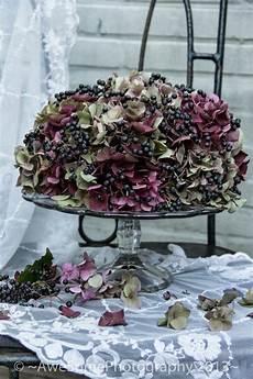 deko mit getrockneten hortensien awesomeliving een herfsttaart dried flowers