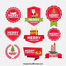 of beautiful vintage merry christmas and new year stickers vector free download