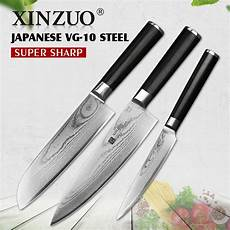 razor sharp kitchen knives xinzuo 3 pcs kitchen knife set damascus razor sharp blade