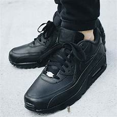 nike air max 90 leather quot all black quot 302519 001 302519