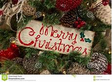 rustic merry christmas sign in tree stock image image of branch holiday 101362761