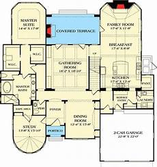 turret house plans plan 17797lv study in a vaulted turret home design