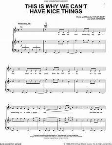 this is why we can t have things sheet music