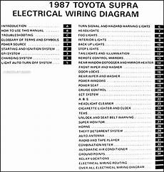 1989 Toyotum Supra Fuse Diagram by 1987 Toyota Supra Wiring Diagram Manual Original