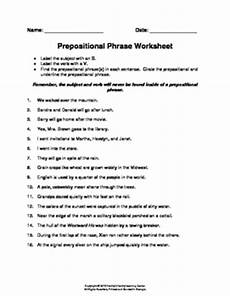 prepositional phrase worksheet by family 2 family learning resources