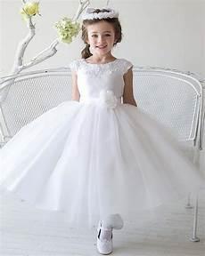 2016 new cheap simple tulle flowergirl white flower girl dresses for weddings first communion