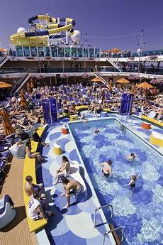 carnival cruise ship pool party editorial