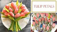how to make chocolate tulip decorations simple and easy youtube