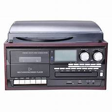 cd cassette player bluetooth stereo record player system with speakers