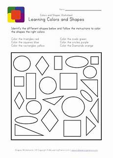 shapes colours worksheets 1064 toddler learning shapes and colors shapes and colors in one exercise view and print