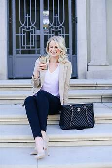 business casual ideas chic blazer and