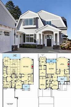 small gambrel house plans 3 bedroom two story cape cod home with gambrel roofs and