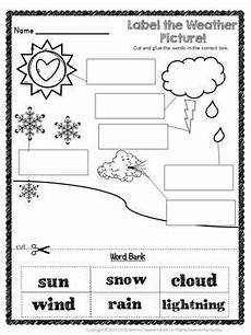 weather conditions worksheets for kindergarten 14516 weather unit kindergarten and 1st grade water cycle rainbows tpt