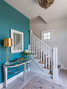 the accent wall paint color is benjamin mayo teal cw