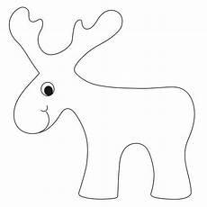 rentier vorlage bastelvorlagen weihnachten basteln