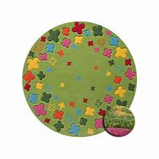 tapis rond enfant tapis rond pour enfant bloom field vert par esprit home