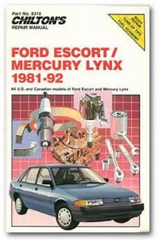 service manuals schematics 1986 mercury lynx transmission control chilton ford escort and mercury lynx 1981 92 repair manual