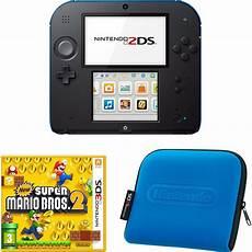 mario console nintendo 2ds black blue bundle includes new mario