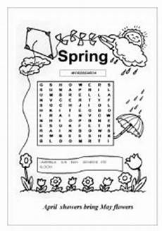 english worksheets spring wordsearch