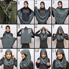 Model Jilbab Pasmina Segi Empat Kaos Modern Untuk Wajah