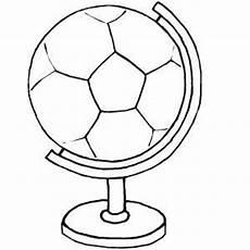 soccer ball globe coloring sheet