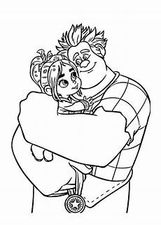 ralph and vanellope coloring pages for printable