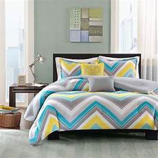 Teal Gray And White Bedroom Ideas by Sporty Blue Teal Yellow Grey White Chevron Stripe