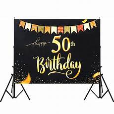 5x7ft Vinyl 50th Happy Birthday Black by 5x7ft Vinyl 50th Happy Birthday Colorful Flag String