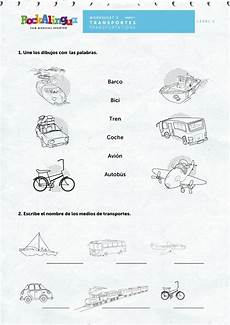 means of transportation rockalingua hiszpański
