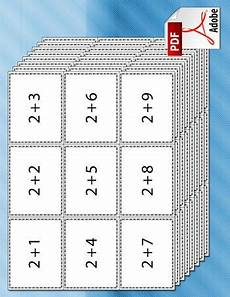 a set of printable addition flash cards for with addition problems made of numbers 1 9
