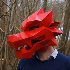 diy geometric paper masks for bored panda