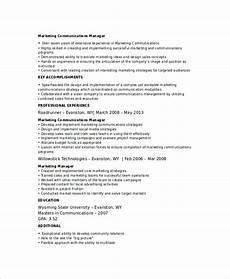 free 6 marketing resume templates in word pdf