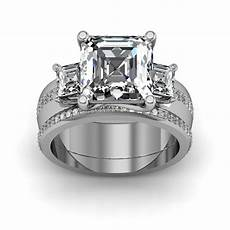63 best asscher cut engagement rings images on pinterest