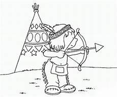 Ausmalbilder Indianer Mit Pfeil Und Bogen Malvorlagen Zum Drucken Ausmalbild Indianer Kostenlos 1